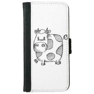 Cow Sketch iPhone 6 Wallet Case