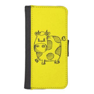 Cow Sketch iPhone SE/5/5s Wallet Case