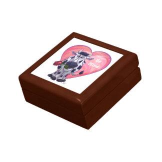 Cow Valentine's Day Small Square Gift Box