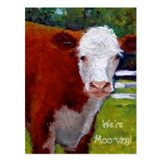 COW: WE'RE MOVING: Announcement Postcard