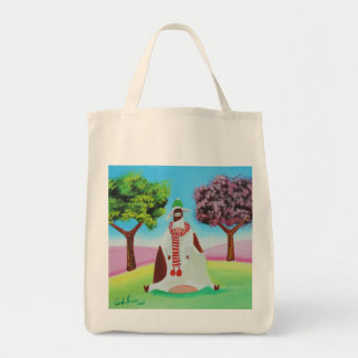 Cow with a scarf Gordon Bruce art Tote Bag