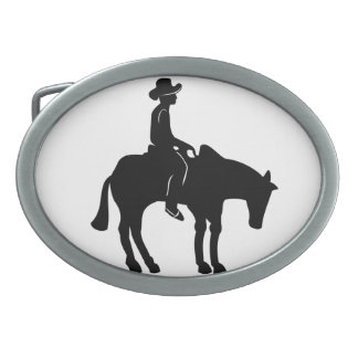 Cowboy and Horse Belt Buckle