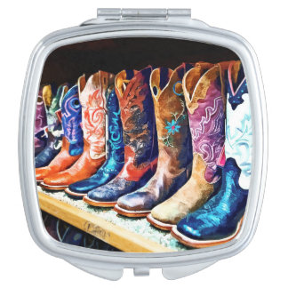 Cowboy Boots Travel Mirrors