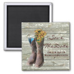 cowboy boots western country wedding save the date