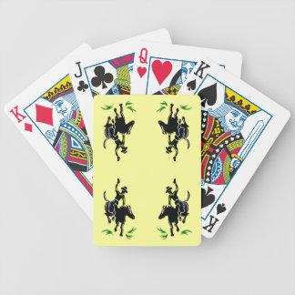 Cowboy Bronco Western Vintage Style Poker Cards