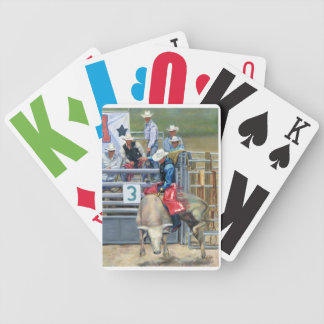 CowBoy- Bull Ride Bicycle Playing Cards