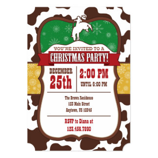 Cowboy Christmas Party Invitation