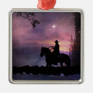 Cowboy Church Christmas Ornament