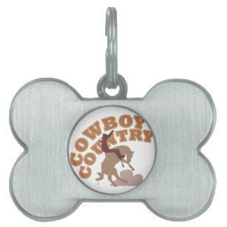 Cowboy Country Pet Tag
