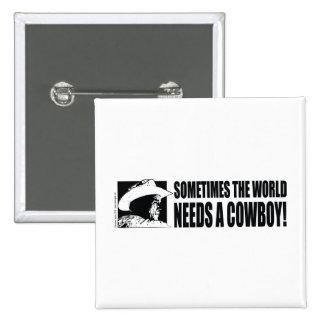 Cowboy George W Bush 15 Cm Square Badge