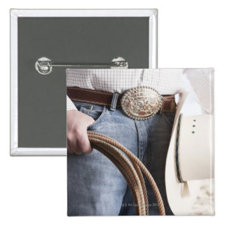Cowboy holding a rope 2 buttons