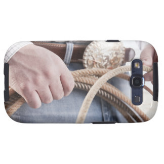 Cowboy holding a rope samsung galaxy SIII cover