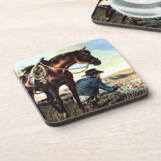 Cowboy Praying The Rosary Coaster