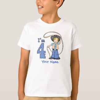Cowboy Roper 4th Birthday Personalized T-Shirt
