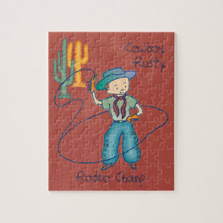 Cowboy Rusty Rodeo Champ Jigsaw Puzzle