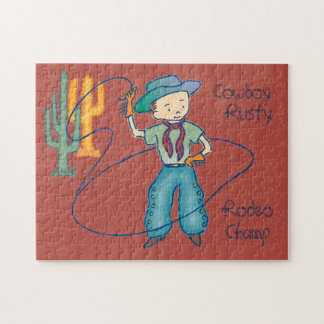 Cowboy Rusty Rodeo Champ Puzzle