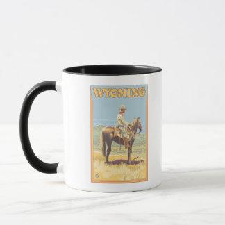 Cowboy (Side View)Wyoming Mug