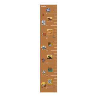 Cowboy Western Growth Chart Poster