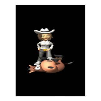 Cowgirl 12 postcard