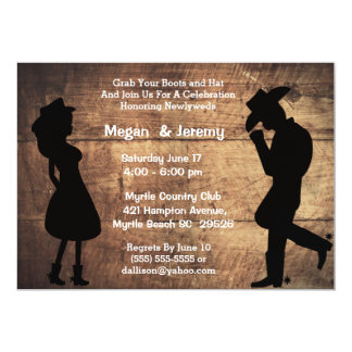 Cowgirl and Cowboy Reception  Invitation