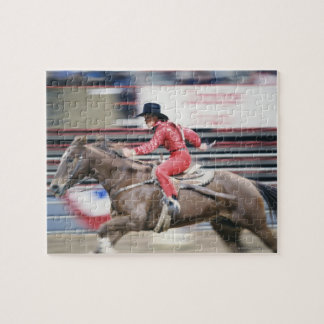 Cowgirl in the Rodeo Jigsaw Puzzle