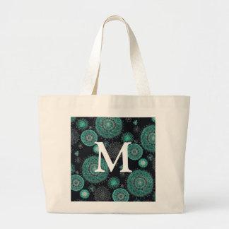 Cowgirl Mums Monogram Large Tote Bag
