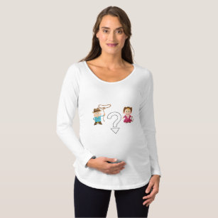 496b9bed695bf Cowgirl or Cowboy Gender Reveal Maternity T-Shirt