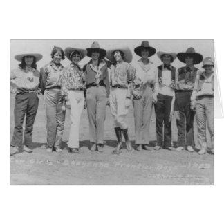 Cowgirls at Cheyenne Frontier Days, 1929. Card