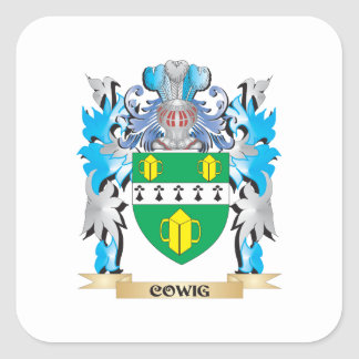 Cowig Coat of Arms - Family Crest Sticker