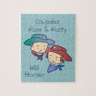 Cowpokes Rose & Rusty Wild Horsies Puzzle