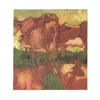 Cows by Vincent van Gogh Notepad