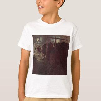 Cows in the barn by Gustav Klimt T-Shirt