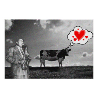 Cows Love Jazz Poster