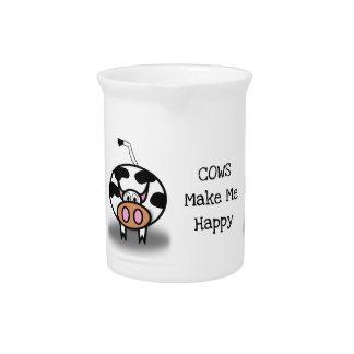 Cows make me happy pitcher