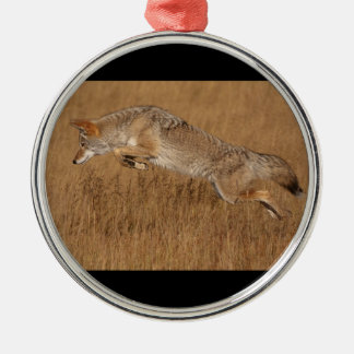 Coyote Flying Christmas Ornament