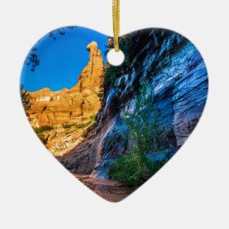 Coyote Gulch Sunrise - Utah Ceramic Heart Decoration
