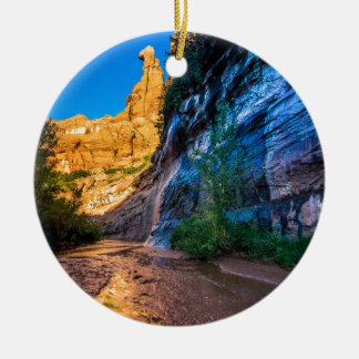 Coyote Gulch Sunrise - Utah Round Ceramic Decoration