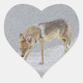 Coyote Heart Sticker