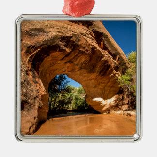Coyote Natural Bridge - Coyote Gulch - Utah Silver-Colored Square Decoration
