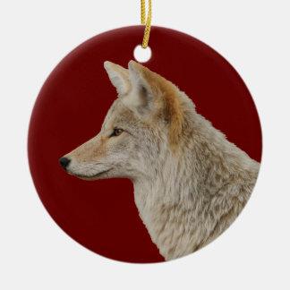 coyote profile christmas ornament