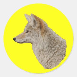 Coyote Profile Classic Round Sticker