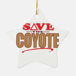 Coyote Save Ceramic Star Decoration