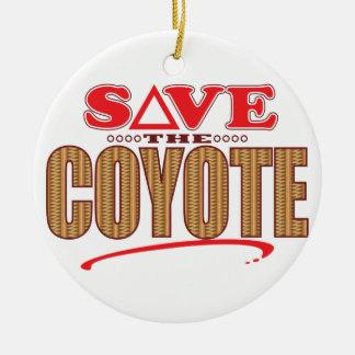 Coyote Save Round Ceramic Decoration