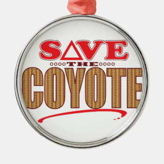 Coyote Save Silver-Colored Round Decoration