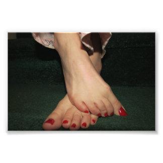 Cozily Barefoot Photo Print