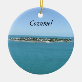 Cozumel Blue Water Tropical Ornamement Christmas Ornament