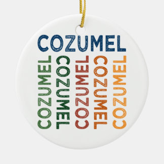 Cozumel Cute Colorful Christmas Ornament