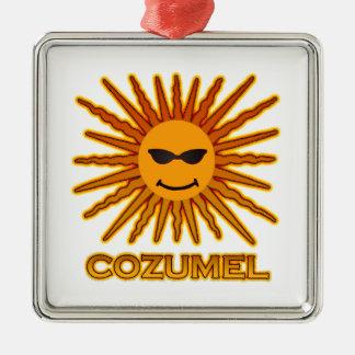 Cozumel Mexico Sun Face Christmas Ornament