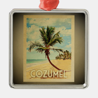 Cozumel Vintage Travel Ornament Palm Tree