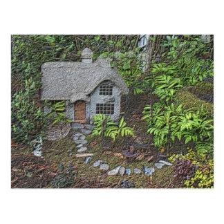 Cozy Cottage Garden Nature Photo Postcard